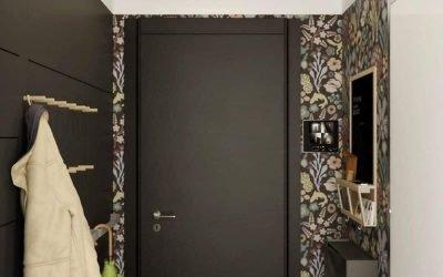 Conception d'un petit couloir dans un appartement - photo intérieure
