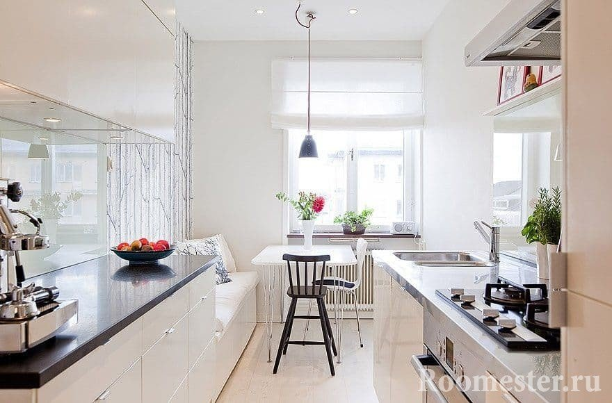 Reka Bentuk Dapur Memanjang Pilihan Susunatur Dalaman