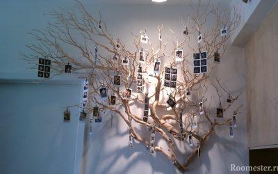 Idées de décoration de bricolage à partir de branches d'arbres