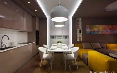 Brun farge og kombinasjonen med andre farger i interiøret