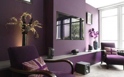 Violett farge i interiøret og dets kombinasjoner