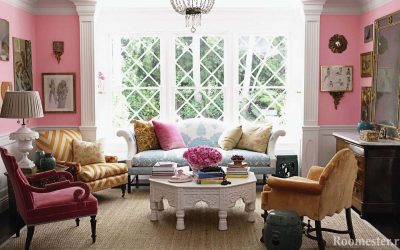 Rosa Farbe im Innenraum - 25 Ideen