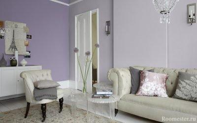 Lilla farge og dens kombinasjoner i interiøret - 25 bilder av ideer