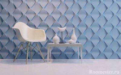 Panneaux 3D pour murs à l'intérieur - 45 exemples de photos