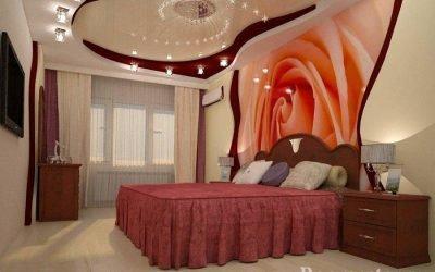 Design de plafond dans la chambre +70 photos d'idées de design