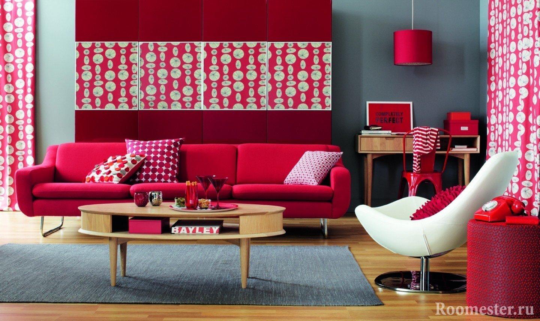 Rode Kleur In Het Interieur En Combinaties Met Andere Kleuren 85 Foto S