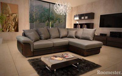 Canapé d'angle à l'intérieur du salon
