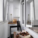 Balkong med kjøkkenmøbler