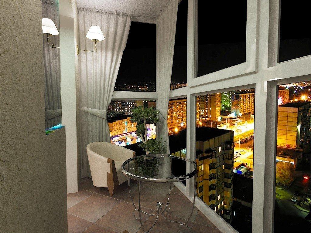 Panoramautsikt over balkong med balkong