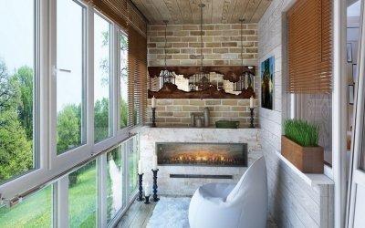Design av balkong - 110 bilder av ideer for arrangement