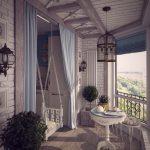 Sving på kjettinger på balkongen