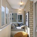Pendel lysekroner på balkongen