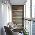 Balkong med moderne design