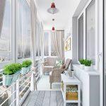 Vakker balkongdekorasjon