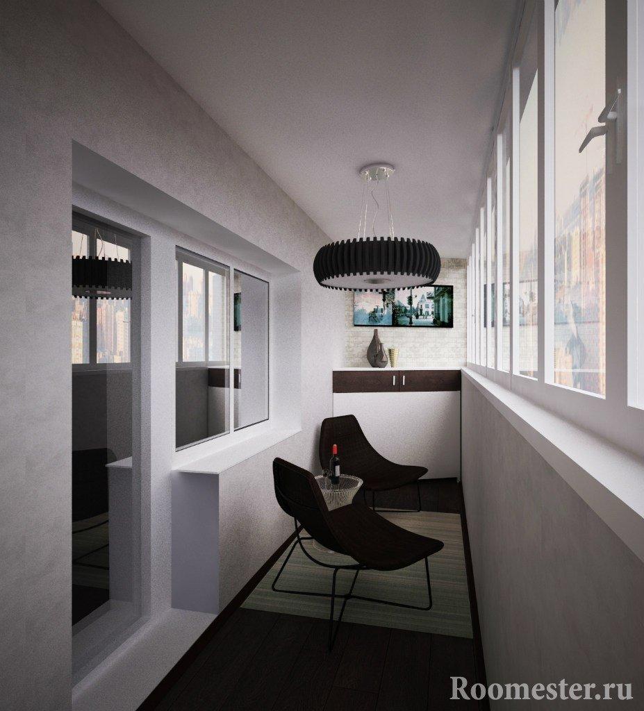 Minimalismestil balkong