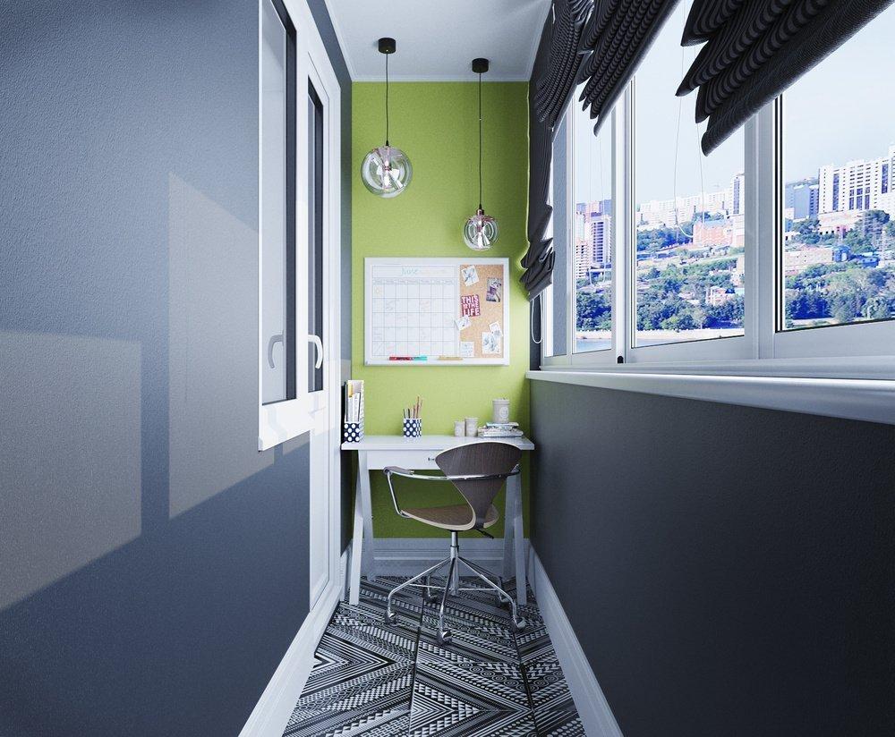 High-tech balkong interiør