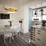 Pendel lysekroner på kjøkkenet og balkongen