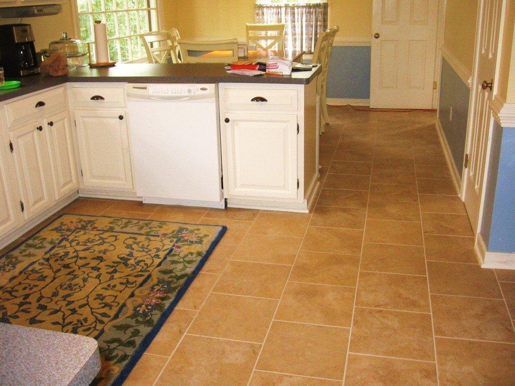 Tapis de sol dans la zone de travail de la cuisine
