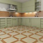 Meubles de pistache dans la cuisine