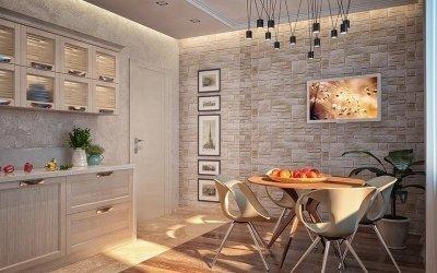 Design de carreaux dans la cuisine +56 photos de design de sol