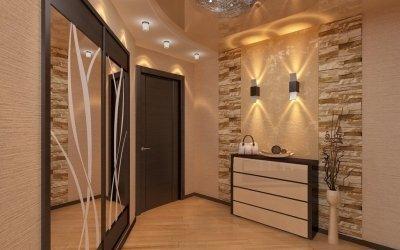La conception du couloir et de l'intérieur du couloir dans une petite zone