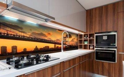 Conception de tablier pour la cuisine +95 idées de conception de photos