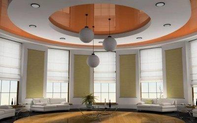 La conception du plafond dans le hall +60 photo