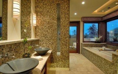 Mosaïque dans la salle de bain: design +75 photos