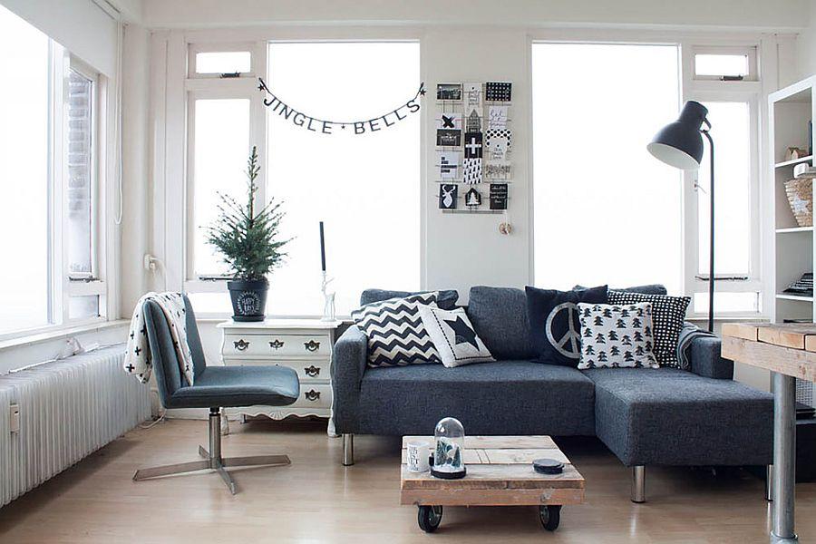 Interior elegant în tonuri de gri