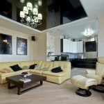 Elite interior with black ceiling