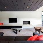 Dark wood for ceiling decor