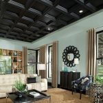 Wooden ceiling in the house