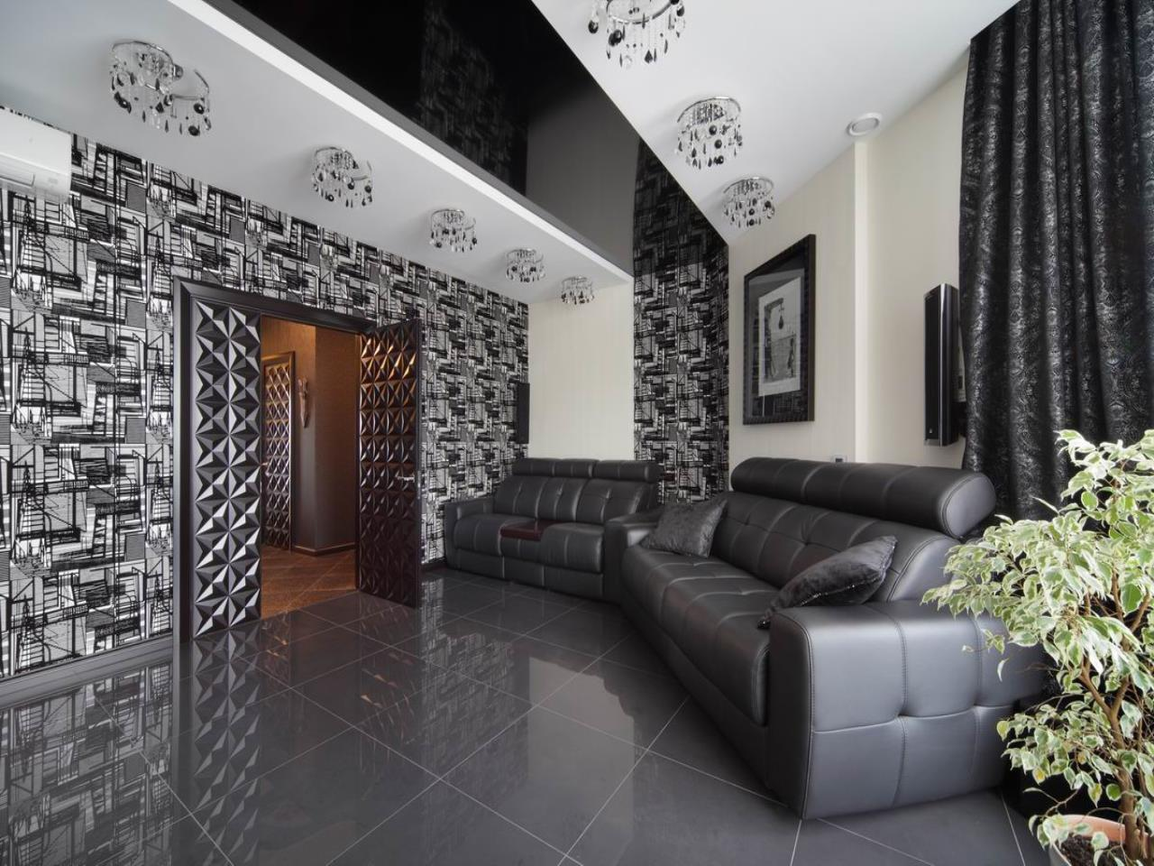 Monochrome hall decor