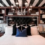 Black and white striped ceiling