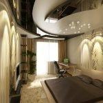 Luxurious bedroom ceiling decor