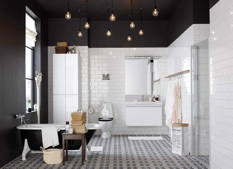 Black bathroom ceiling