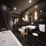 Bathroom in black