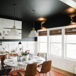 Matte black ceiling in the kitchen