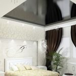 Stretch ceiling over the bed