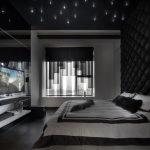 LED lights on a dark ceiling
