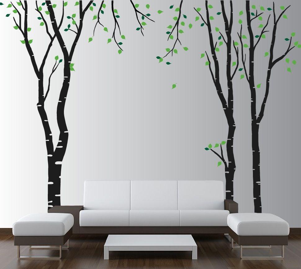 Sjablonger av trær i interiøret