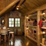 Møbler laget av tømmerstokker