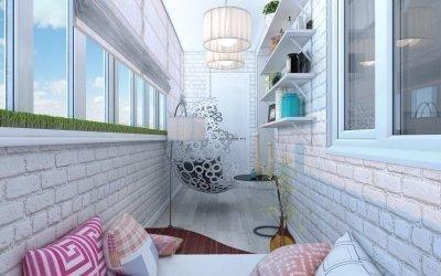 Design av en liten balkong +75 bilder av interiøreksempler