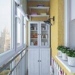 Skap på balkongen
