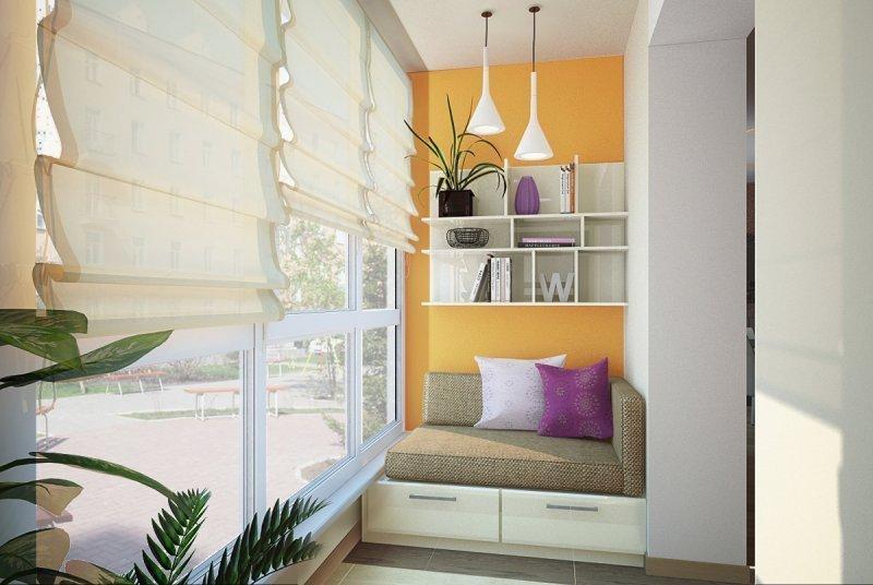 Moderne interiør på en liten balkong