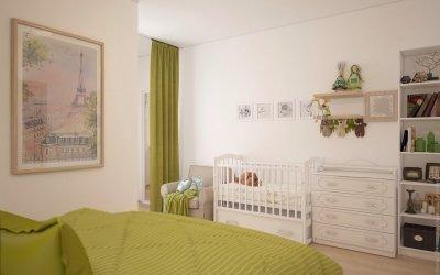 Design av et soverom med en barneseng +50 bilder av ideer for romopplegg