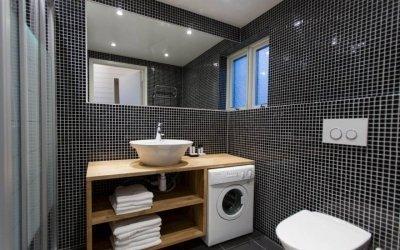 Conception d'une salle de bain avec machine à laver +50 idées photo