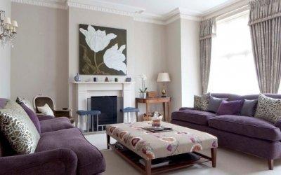 Canapea violetă în interior +75 de exemple foto