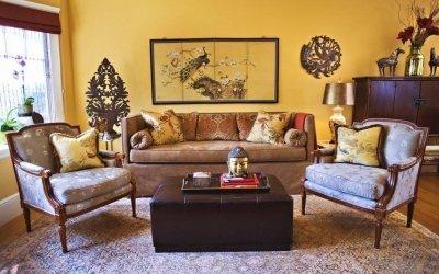 Mustard color in the interior +75 photos