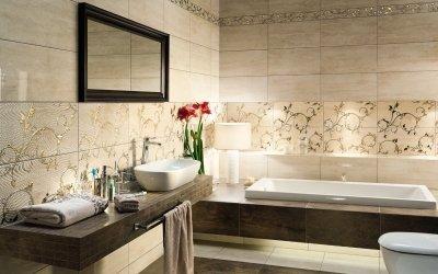 Façons de décorer une salle de bain avec un carrelage +50 photo